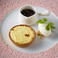 料理メニュー写真レアチーズタルトとシトロンソルベ