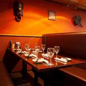 雰囲気が自慢のお席。デートや記念日、お祝いなどにも最適です。
