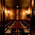 3~6名様用のテーブル席は、会社仲間での宴会や友人同士の飲み会にぴったり。テーブル同士を繋げることで、最大で18名様までご利用いただけます。料理を一度にたくさん置ける余裕のあるテーブル席は、しっかり食べたい方に◎おしゃれな空間と美味しい料理が雰囲気を盛り上げる、少人数での宴会におすすめの席です。
