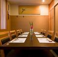 【1階】4名個室テーブル席×2(8~10名様)※テーブル席1・テーブル席3の2部屋をつなげれば20名様までのご宴会が可能です。(※L字型のお席になります。)