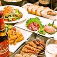 歓送迎会のご予約承り中!淡路鶏を使用した各種宴会コースは120分飲み放題付き3000円~!