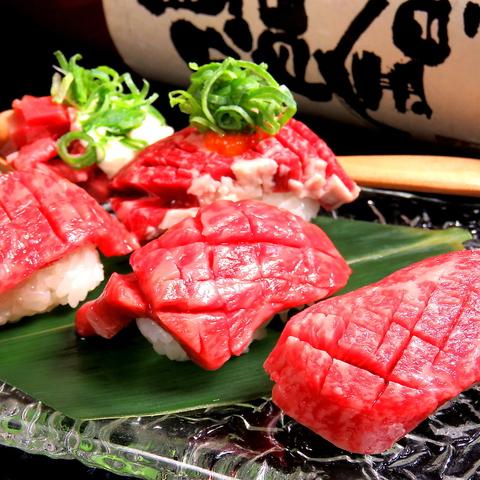 炙り肉寿司と厳選ハラミ 肉もと食堂