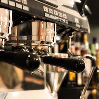 バリスタが淹れる本格派コーヒー