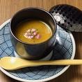 【コースの一品】フォアグラ茶碗蒸し~焼きナスのソース添え~