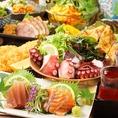 宴会・飲み会コースは各種150種2時間セルフ飲み放題付き!クーポンご利用でお得⇒3500円~!他にもオトクなクーポンがいっぱい♪おいしい肴とおいしいお酒で楽しい宴会をするなら鶏魚へぜひ♪