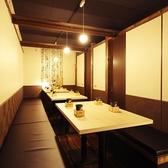 個室なので周りを気にせずゆったりお愉しみいただけます!お席は広々使えるテーブル席です。※写真は系列店