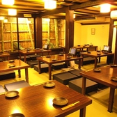 掘りごたつ式の団体席もございます。大阪難波エリアでの歓迎会・送別会・歓送迎会など各種飲み会は贔屓屋におまかせ[なんば 居酒屋 飲み放題 個室]