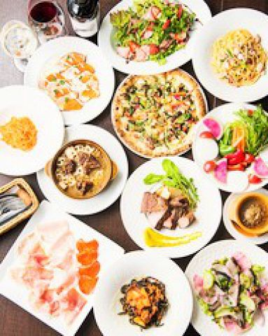 歓迎会、送迎会に!コスパ抜群1番人気! 大皿料理&飲み放題(120分)◆TEL予約で200円引き!