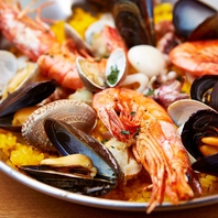 本格パエリアを始め、本格スペイン料理を多数ご用意♪