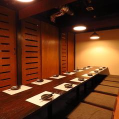 落ち着いた和空間が魅力。コースは2時間飲み放題付き3500円~ご用意しております。