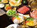 料理メニュー写真お好み焼き・もんじゃ+しゃぶしゃぶorすき焼き食べ放題(飲み放題込み)