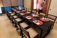 1階『桔梗の間』  4~12名様用お座敷個室。テーブルとイスを導入しました!『顔合わせ食事会』に是非ご利用下さい。京成立石駅下車徒歩約3分、もちろん駐車場も完備しております。