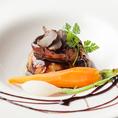 デート料理にオススメ♪≪豚つくねとフォアグラのロッシーニ風≫900円