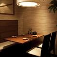 ブラインドで仕切った半個室席。4名様から10名様までご利用可能です。部署宴会といった会社宴会にもおすすめ。