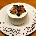 料理メニュー写真自家製ホールケーキ