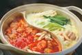 料理メニュー写真アボカドミルク豆乳と美肌トマトのW美人鍋(前日までに要予約/2人前~)