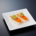 料理メニュー写真エビ/サーモン/オニオンサーモン/ねぎ塩サーモン/エビマヨ
