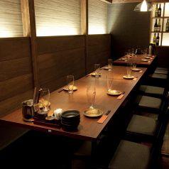 テーブルも広々としているので、ご注文いただいた料理をおいても狭さを感じさせません。一体感のあるご宴会をお楽しみください。