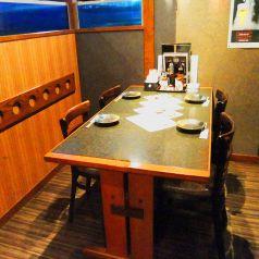 広めのテーブル個室席もございます。