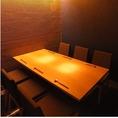 奥にあるテーブル個室。カップル、友人、大切な方と♪