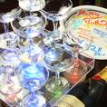 誕生日・記念日・各種イベントにはブルシットにお任せ下さい!!シャンパンタワー・メッセージプレートで盛り上げますっ♪