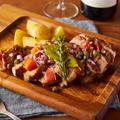料理メニュー写真ホエー豚の香草焼き 山わさびソース