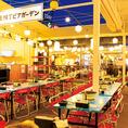 開放感抜群!繁華街のど真ん中にある屋上ビアガーデン♪岐阜駅周辺は、多くの飲食店が並ぶ活気溢れる居酒屋街。昔ながらの居酒屋や、新しくできたお店が混在し、さまざまなジャンルの店が勢揃い。岐阜横丁ビアガーデンは、多くの飲食店と飲み歩く人で活気あふれるグルメスポットの中心地に位置しています!