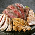 料理メニュー写真全部のっけの桜島盛り(黒豚二種、黒さつま鶏、黒牛)