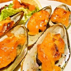 パーナ貝の自家製ウニソース焼き(5個)