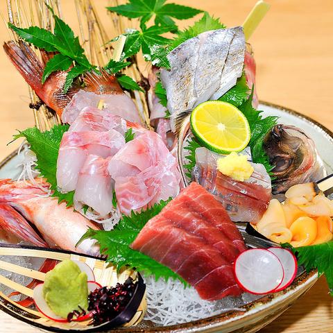 【女子会に】メインが選べる!海鮮お宝押し寿司などお料理全7品『銀政厳選コース』4000円