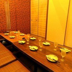 ~10名様の中規模宴会が出来る掘り炬燵式個室もご用意!!接待や食事会にも最適です!!