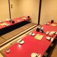 20名様から30名様の個室会社での大宴会に人気のお部屋です☆普段から大宴会をさせていただいておりますので当店スタッフがスムースに対応致します☆【大阪・南森町・個室居酒屋】