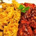 料理メニュー写真半半チキン(フライド&ヤンニョム&醤油から2種類)≪骨付き≫