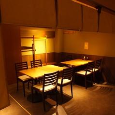 5名様~10名様可能 な半個室席もご用意。ワンランク上の大人の空間でご宴会を…