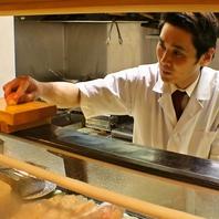 中央市場から毎日仕入れる鮮魚!職人の握るこだわり寿司