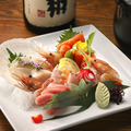 料理メニュー写真本日の刺身三種盛り(三人前)