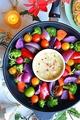 料理メニュー写真三浦野菜の鉄板焼バーニャカウダ