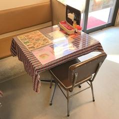 2名様テーブルです。