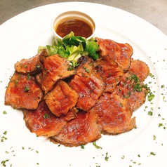 牛ハラミのステーキのタリアータ