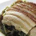 料理メニュー写真角煮と高菜蒸す物