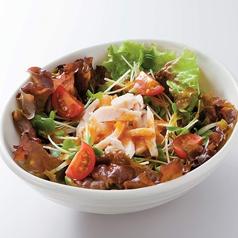 料理メニュー写真蒸し鶏のサラダ~すりおろし野菜ドレッシング~