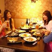 女子会や仲間内での飲み会に人気のテーブル席です。