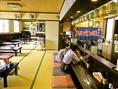 純和風の店内で、海鮮料理、焼鳥をはじめたくさんの日本料理を味わえる