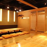 大中小の個室完備。浜松町での宴会ならお任せください◎