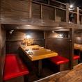デートや会社宴会、ちょっとした飲み会にも最適なテーブル席もご用意♪☆もちろんプライベートシーンにも対応しております!!