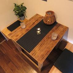 【2名様のテーブル席】個室風になっているのでまわりを気にせずお食事いただけます!谷山エリアでのデートや密会に最適♪お気軽にご相談、お問い合わせ下さい。谷山エリアコスパNO.1のお店です。