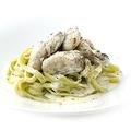料理メニュー写真牡蠣のクリームパスタ ~ホウレン草のタリアテッレ~