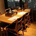 テーブル席個室。接待やお食事などに◎ 落ち着いた空間で羅豚でお食事を。