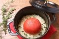 料理メニュー写真三河鶏と完熟トマトの鉄鍋ごはん