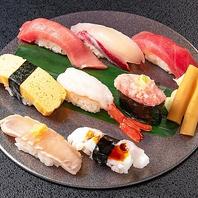 職人の技が光る!本格的な江戸前寿司を是非。